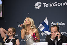 Krista Siegfrids, ESC2013 press conference 02.jpg