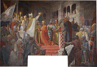 Josip Horvat Međimurec - Image: Krunjenje kralja Tomislava
