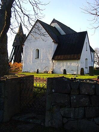 Gunnar's bridge runestones - Image: Kullerstads kyrka, den 21 december 2008, bild 12