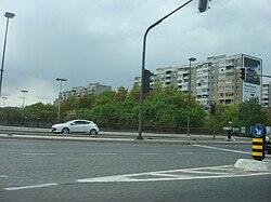 Kunaver Street from Klagenfurt Street above the bypass.jpg