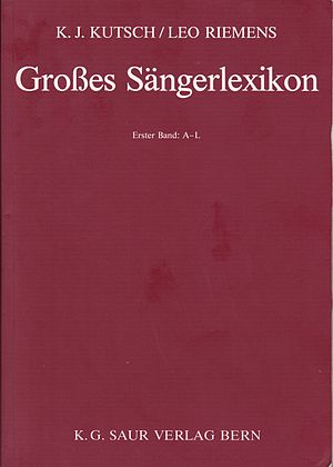 Großes Sängerlexikon - Title page of the 1993 edition