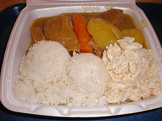 L&L Hawaiian Barbecue - Beef curry meal