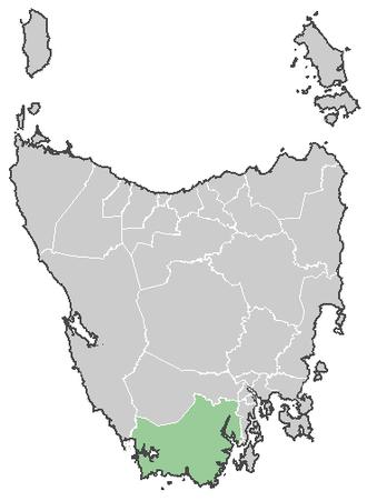 Ida Bay Railway - Location of the railway