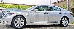 Lexus LS 600h L hybrid sedan.