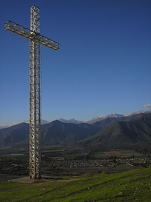 "La Calera, Chile - 100-Foot-high Cross on ""La Melonita"" hill, in La Calera"