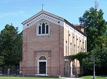 photograph of the exterior of The Scrovegni Chapel