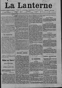image illustrative de l'article La Lanterne (quotidien)