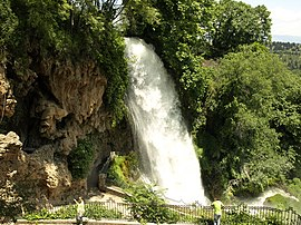 Edessa's waterfalls, landmark of the town