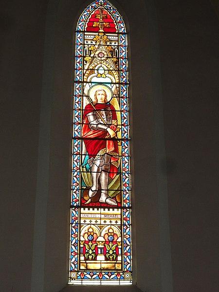 Labenne (Landes) église Saint Nicolas, vitrail 03