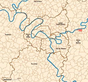 Lagny-sur-Marne - Image: Lagny sur Marne map