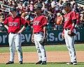 Lake Elsinore Storm - Jedd Gyorko and Jeudy Valdez and Jonathan Galvez (5621296618).jpg
