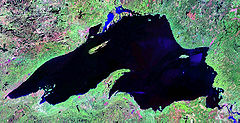 Landsat image of Lake Superior.