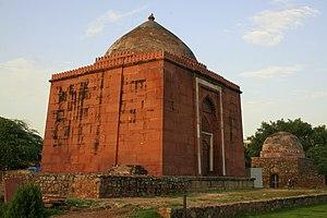 Malviya Nagar (Delhi) - Lal Gumbad, Tomb of Shaikh Kaliruuddin, built in 1397, Malviya Nagar.