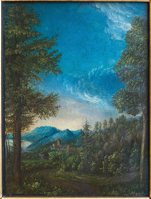 Landscape of Danube near Regensburg, Albrecht Altdorfer, W.A.F. 30, Alte Pinakothek Munich