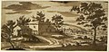 Landscape with Buildings and a Town in the Distance (recto); Study of a Building (verso) MET DR358.jpg