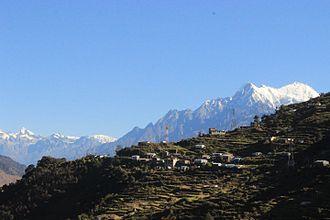 Rasuwa District - Image: Langtang Range from Ramche
