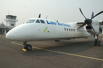 Xian MA60 - Lao Airlines MA60 at Louangnamtha Airport, Laos