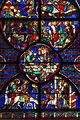 Laon Cathedral Stained Glass Window Central Aisle 02.JPG