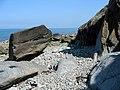 Large rocks on the beach - geograph.org.uk - 899733.jpg