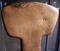 Las bajas (tehuelche, argentina), ascia cerimoniale in pietra, 2000-1000 ac ca. 02.jpg