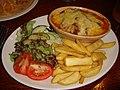 Lasagne at The Cramond Inn, Edinburgh (2659943291).jpg