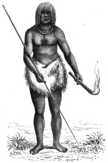 Last of the Tasmanians Woodcut 7 - Manalagana