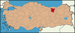 Latrans-Turkey location Gümüşhane.svg