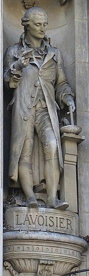 Statue of Lavoisier, at Hôtel de Ville, Paris.