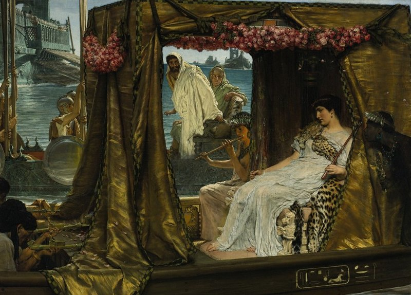 Archivo:Lawrence Alma-Tadema- Anthony and Cleopatra.JPG