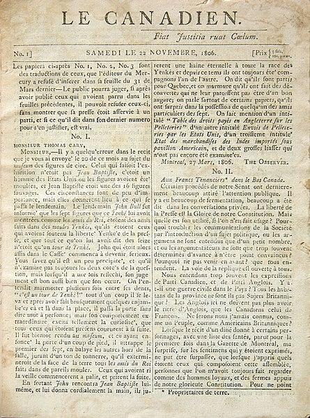 Datei:Le Canadien Nov 22, 1806.jpg