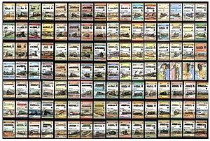image of Leaders of the World locomotives stamps (part)