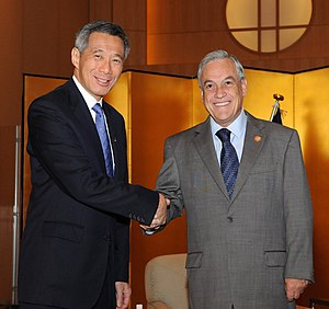 Lee Hsien Loong - With former Chilean President Sebastián Piñera