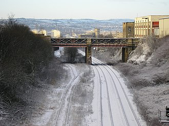 Leeds, Bradford and Halifax Junction Railway - Image: Leeds to Bradford Railway Line geograph.org.uk 1656579