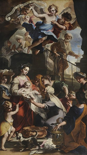 File:Legnanino - Nativity with in the background the civic tower and the church of San Lorenzo.jpg