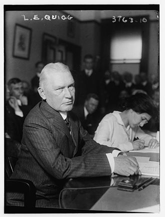 Lemuel E. Quigg - Testifying before the Thompson Committee circa February 10, 1916