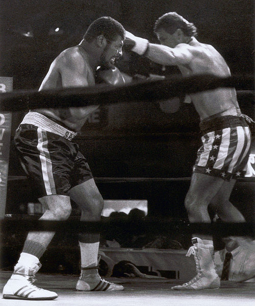 Spinks defeats Ray Kipping June 19, 1995, St. Louis Leon Spinks 2.jpg