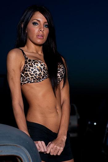 English: Leopard bikini.