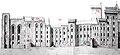 Les douze tours du Palais des papes sur façades Viollet-le-duc.jpg