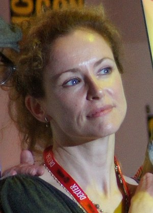 Leslie Hope - Hope at the 2011 San Diego Comic-Con International