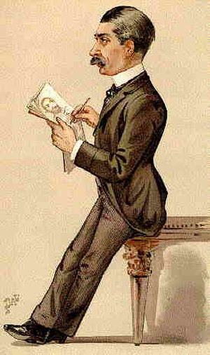 Leslie Ward - Leslie Ward caricatured in 1889 by 'Pal'