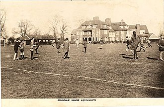 St Christopher School, Letchworth - Playing Hockey at Arundale House, 1924.