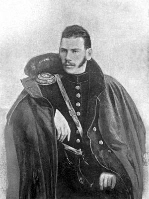 1854 in literature - Tolstoy during the Crimean War, c. 1854