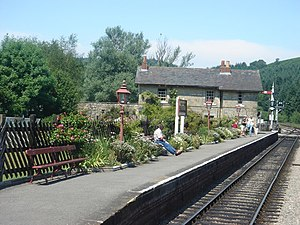 A Month in the Country (film) - Levisham railway station on the North Yorkshire Moors Railway and the surrounding countryside was the setting for the Ellerbeck's house.
