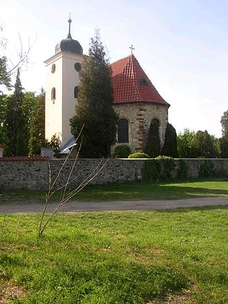 Levý Hradec - St. Clement church from SE.