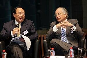 Li Ruogu - Li Ruogu, at the left of the image, during the Horasis 2010 meeting