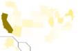 Libertarian Party presidential election results, 1976, raw vote count (United States of America).png