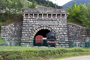 Fréjus Rail Tunnel - The original entry on the French side