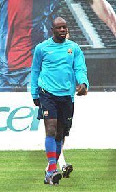 Thuram in allenamento con il Barcellona