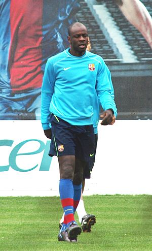 Lilian Thuram - Thuram with Barcelona in 2008