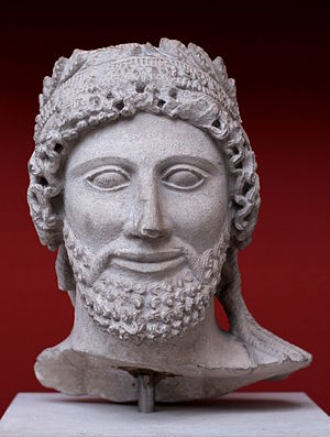 Idalium - Limestone head of a bearded worshipper, 475 and 450BC (British Museum)